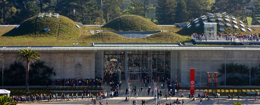 migliori giardini urbani del mondo California Academy of Sciences Green Roof
