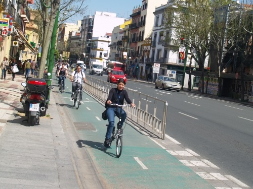 Sevilla's bike lane