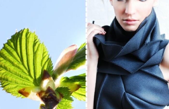 diana eng: la sciarpa che riproduce il pattern delle foglie