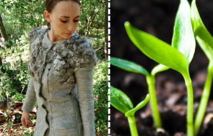 zoe alexander crea abiti in lana che rilasciano semi