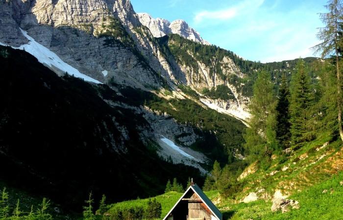 Cabin nel Parco nazionale di Triglav, Slovenia