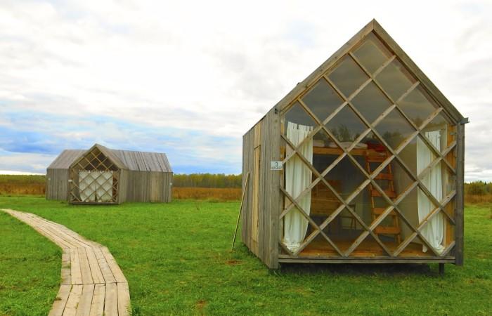 Cabin a Nikola Lenivets, in Russia