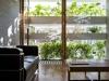 La casa a strati vegetali, il soggiorno