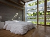 La casa a strati vegetali, la camera