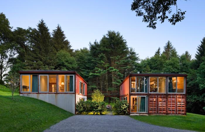 Casa di container tuttogreen for Case stupende