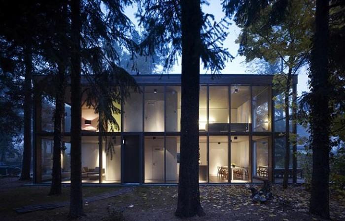 Una casa passiva nel bosco a Berlino