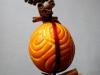 ghirlanda di arancia decorata e cannella