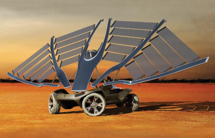 Helios, un prototipo di auto elettrica originale