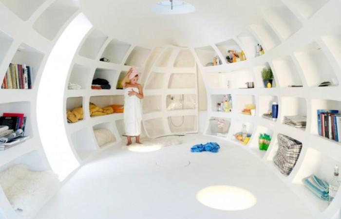 L'interno della casa uovo