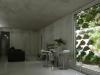 L'interno e la vista del verde dalle finestre