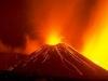 eruzione notturna dell'Etna