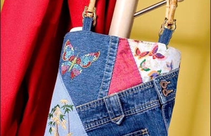 Top riciclo creativo jeans KR55