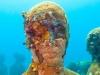 le sculture di jason de caires taylor diventano la base per i coralli