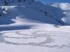 Un'altro disegno geometrico di Beck fatto camminando sulla neve