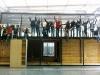 Gli studenti francesi durante la costruzione di Canopea