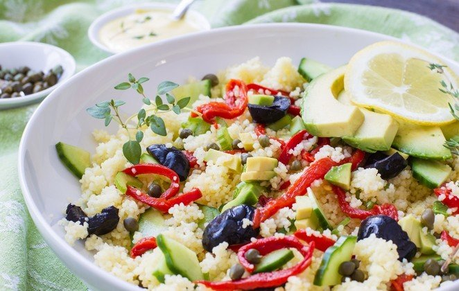 Photo of Cous cous all'avocado con senape aromatizzata al timo
