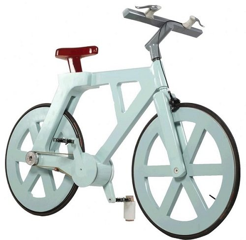 cardboard-bicycle eco-prodotti in carta riciclata