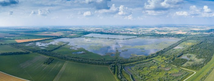 Vista aerea del Parco del Delta del Po