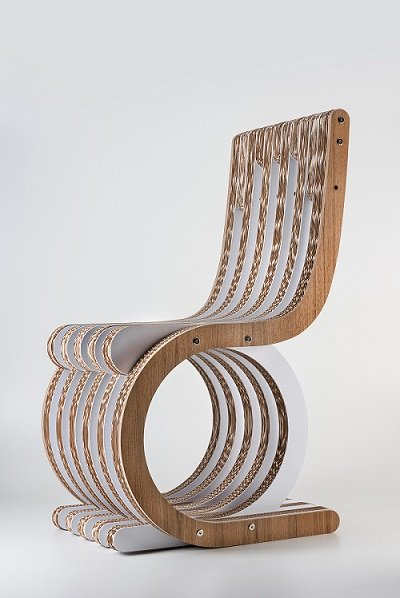 twist-chair eco-prodotti in carta riciclata