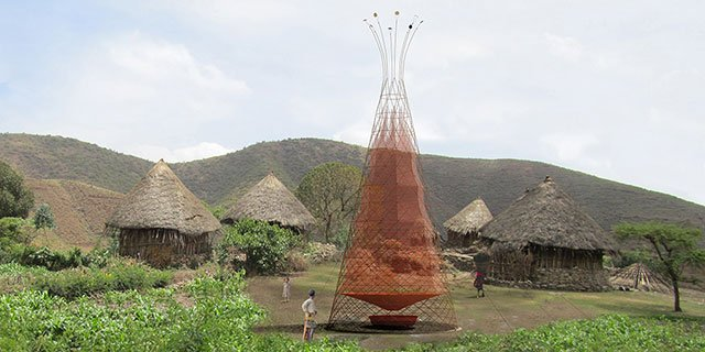 warka water la torre in bambù per recuperare acqua potabile