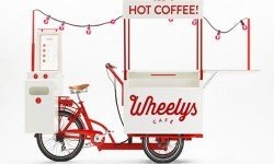 Un bici bar mobile per un caffé in movimento