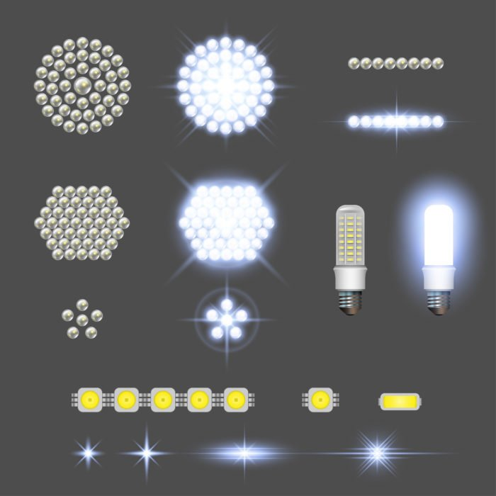 Lampadine a LED, alogene, a basso consumo e risparmio energetico