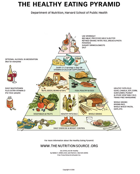 Piramide Alimentare - Harvard healthy eating pyramid