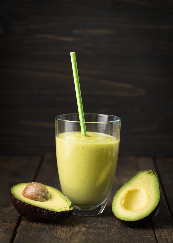 Smoothie avocado porri