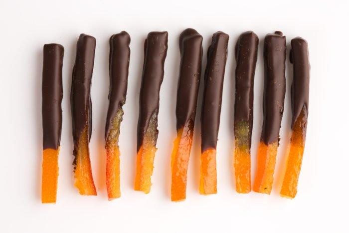 scorze di arancia candite al cioccolato