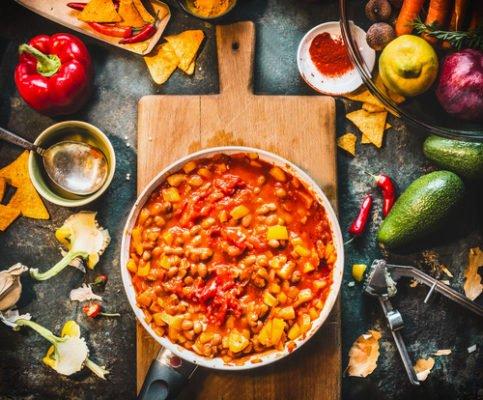 Chili vegetariano piccante