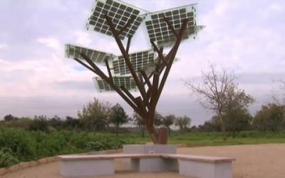 Ecco gli alberi solari per ricaricare il cellulare in strada