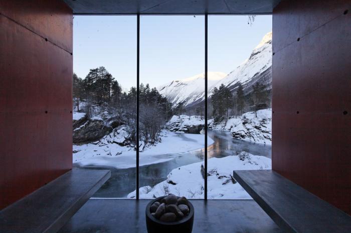 La sauna di Jensen & Skodvin saune per gli amanti della natura