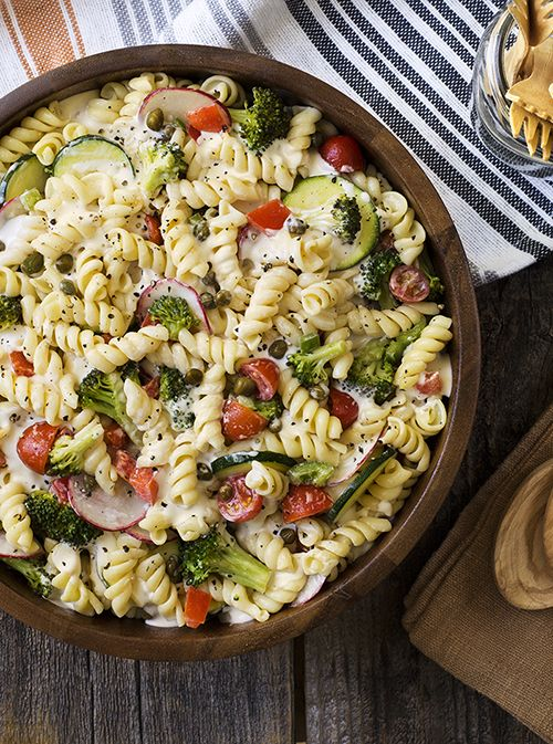 pasta salad yogurt