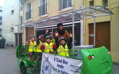 S'cool Bus, l'autobus a pedali per portare a scuola i bambini francesi