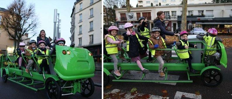 Photo of S'cool Bus, l'autobus a pedali per portare a scuola i bambini francesi