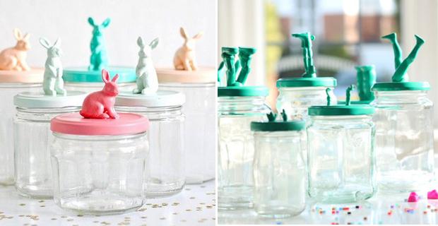 Scoprite come riciclare barattoli di vetro tuttogreen - Barattoli decorati shabby ...