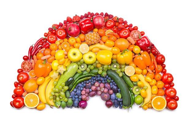 Colori di frutta e verdura le propriet in base al colore - Contorno di immagini di frutta ...