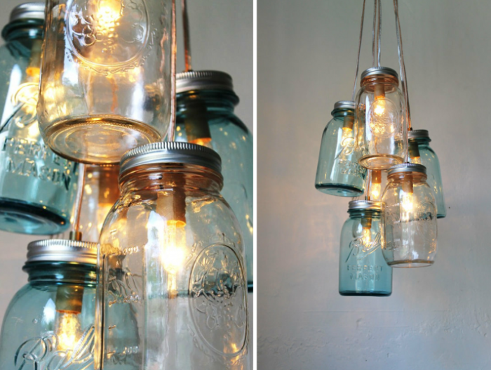 romantic-vintage-weddings-chandeliers-with-mason-jars