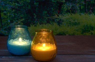 Le candele alla citronella sono ottime contro le zanzare