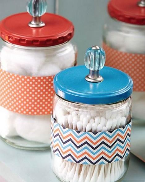 Scoprite come riciclare barattoli di vetro tuttogreen - Contenitori per bagno ...