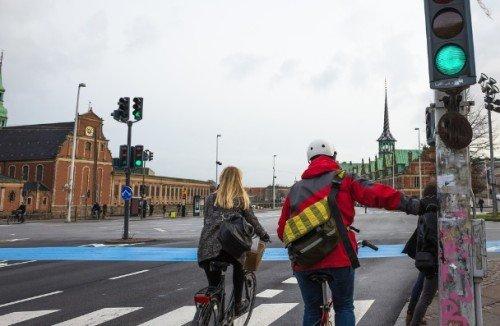 patria della bici semafori sensibili ai ciclisti in danimarca