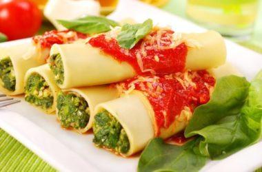 Cannelloni vegetariani light, una ricetta vegetariana sfiziosa
