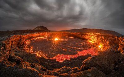 Le foto spettacolari del lago di lava in Etiopia
