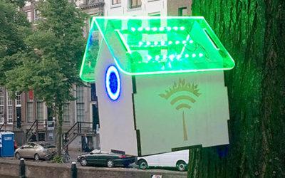 Tree wifi Amsterdam per misurare la qualità dell'aria