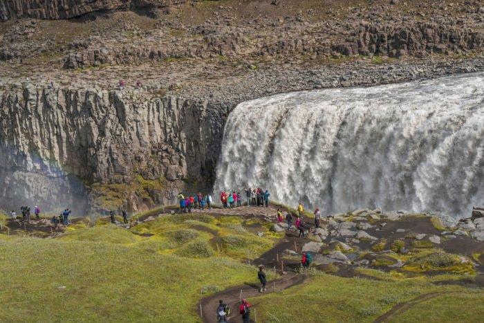 cascate più belle del mondo: cascate Dettifoss, Islanda