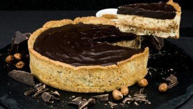 Photo of Ricetta della crostata al cioccolato fondente senza uova e latte