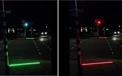 Olanda: i semafori che si proiettano a terra per pedoni distratti da smartphone