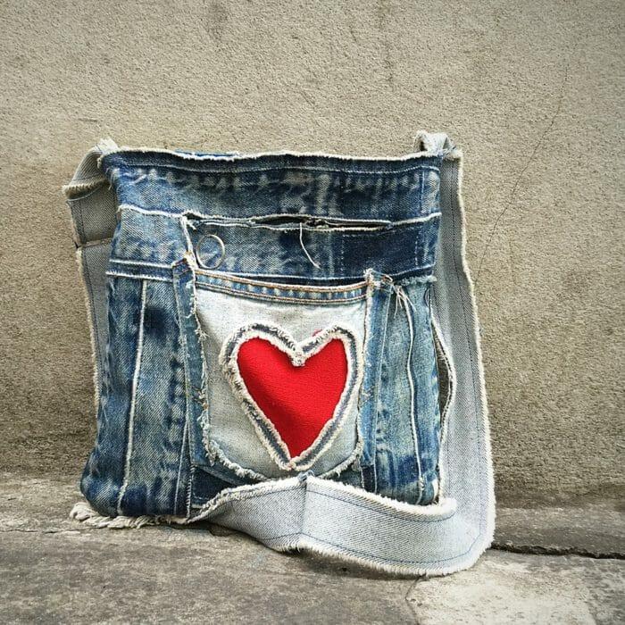 riciclo creativo jeans