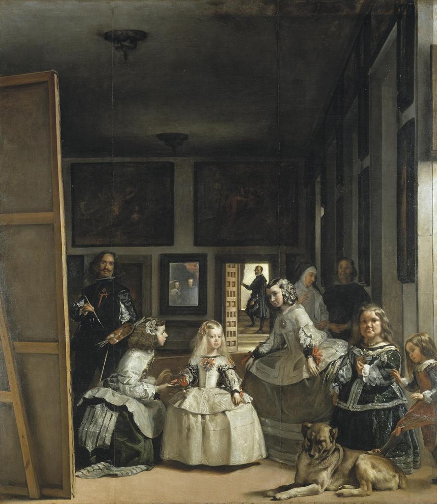 mastino spagnolo nel quadro Las Meninas