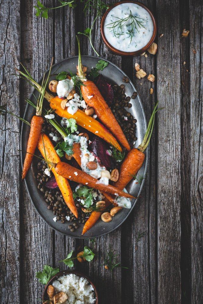 Photo of Insalata di fagiolini con quinoa e carote arrostite